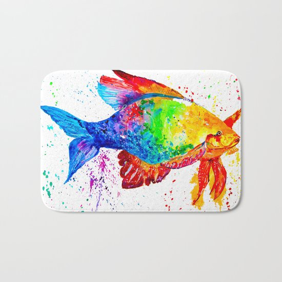 Bright fish Bath Mat