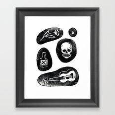 Singing Bones Framed Art Print