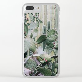 Cacti Heaven Clear iPhone Case