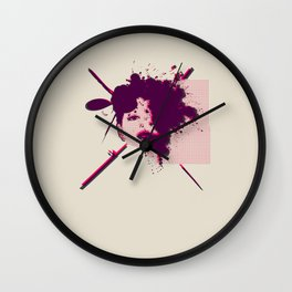 Fizzing Forth Pink Gin Wall Clock