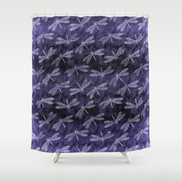 Purple Dragonfly Twighlight Dance Shower Curtain