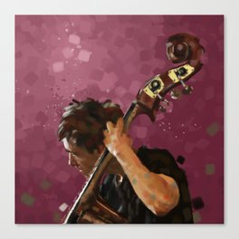 Double Bass Player Canvas Print