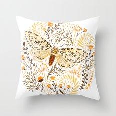 Giant Leopard Moth Throw Pillow