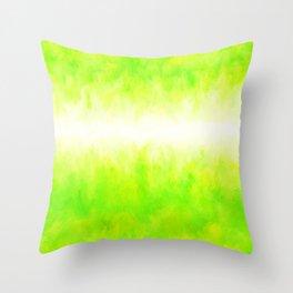 Neon Lemon Lime Abstract Throw Pillow