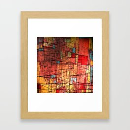 COLOR LINES Framed Art Print