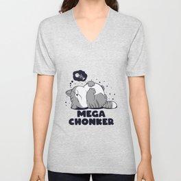 Mega Chonker, Chomk Lazy Cat Unisex V-Neck