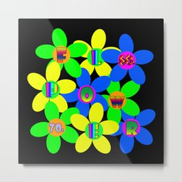Flower Power 60s-70s Metal Print