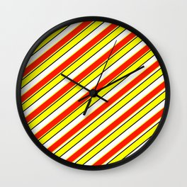 Scarlet and yellow Wall Clock
