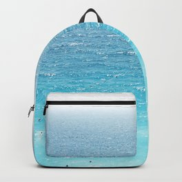 Water, Blue, Sea, Ocean, Minimal, Pattern, Modern art Backpack