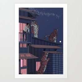 Tiger Playhouse Art Print
