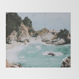 big sur / california Throw Blanket