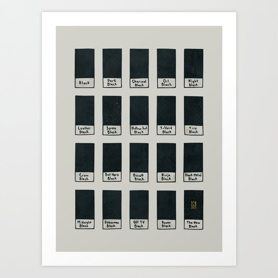 The New Black Art Print