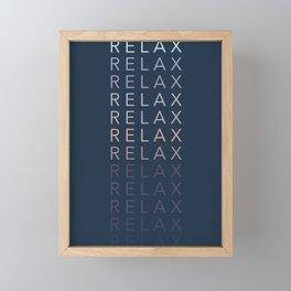 Relax Framed Mini Art Print