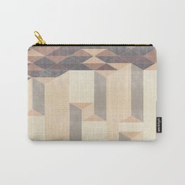 Dusty Triangle columns - fall colors Carry-All Pouch