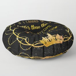 Bookish Quote The Cruel Prince Holly Black Floor Pillow