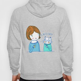 all i ever wanted was to drink ice tea with a cat  Hoody