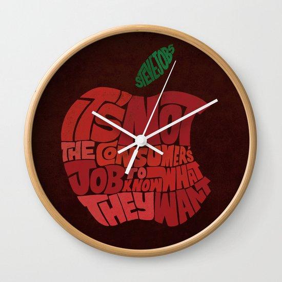 Steve Jobs on Consumers Wall Clock