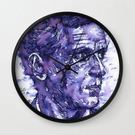 LUDWIG WITTGENSTEIN watercolor portrait.4 Wall Clock