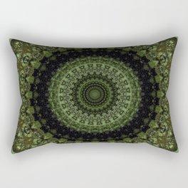 Mandala in olive and light green tones Rectangular Pillow