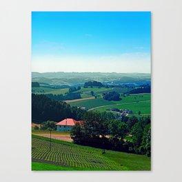 Spring scenery with hazy horizon Canvas Print