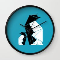 penguin Wall Clocks featuring PENGUIN by ARCHIGRAF