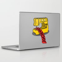 anarchy Laptop & iPad Skins featuring Anarchy Sewing Machine by mailboxdisco