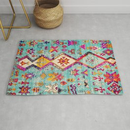 Lovely Colored Heritage Traditional Berber Moroccan Art Style Rug