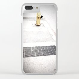 Black & White Fire hydrant 001 Clear iPhone Case