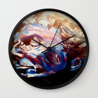 grateful dead Wall Clocks featuring Phil Lesh Acrylic Painting Grateful Dead and Furthur by Acorn