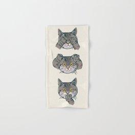 No Evil Cat Hand & Bath Towel