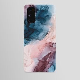 Pastel Plum, Deep Blue, Blush and Gold Abstract Painting Android Case
