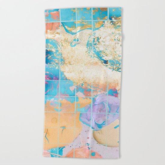 Mosaic Paint Spill V2 #society6 #decor #buyart Beach Towel