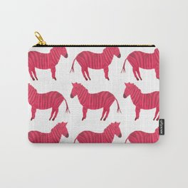 Pink Zebra Carry-All Pouch