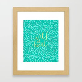 Wild at Heart – Turquoise Framed Art Print