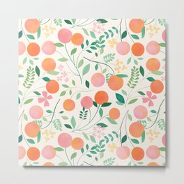 Vanilla Peaches Metal Print