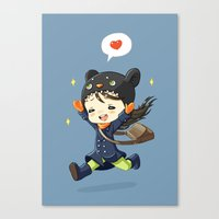 happiness Canvas Prints featuring Happiness by Freeminds