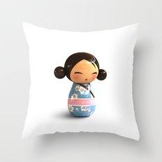 Kokeshi 03 Throw Pillow