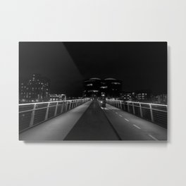 Copenhagen bridge at night Metal Print