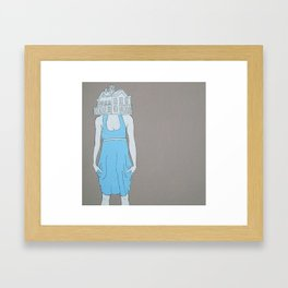 House Head Framed Art Print