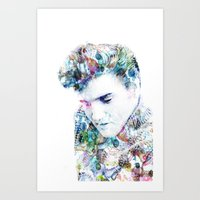 elvis presley Art Prints featuring Elvis Presley by NKlein Design