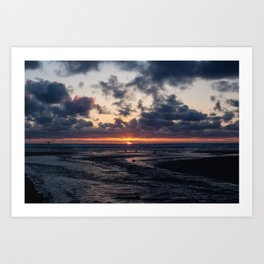 Oregon Ocean Sunset Art Print