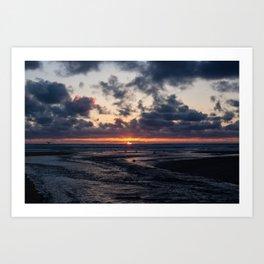 Oregon Ocean Sunset Art Print