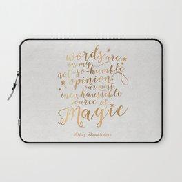 Dumbledore's Magic Words Laptop Sleeve