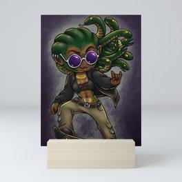 Skater Gorgon Mini Art Print