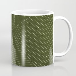 Lines (Olive Green) Coffee Mug