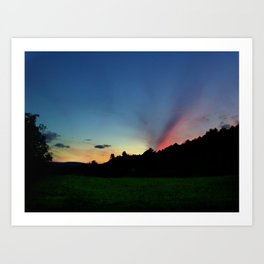 Colorful Sunset in Upstate New York Art Print