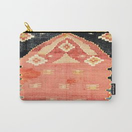 South West Anatolia  Antique Turkish Niche Kilim Print Carry-All Pouch