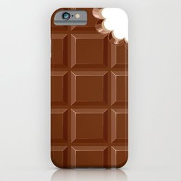 Chocolate Sweet Bar with a bite out of the corner iPhone Case