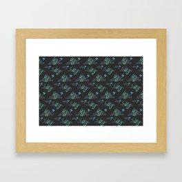Storm Pattern Framed Art Print