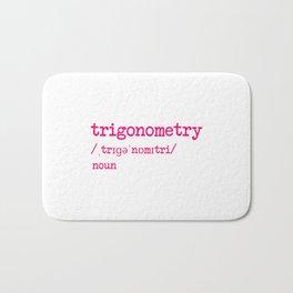 Trigonometry Teacher Word Definition Dictionary Mathematics Bath Mat